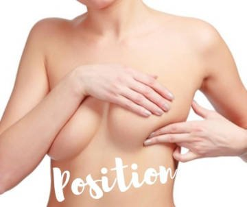 Breast implant position